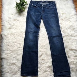 7 for all Mankind Women Size 29 Medium Wash BootCu
